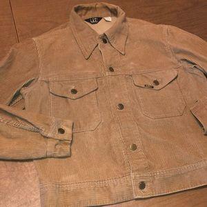 LEE Tan Brown Long Sleeve Corduroy Trucker Jacket